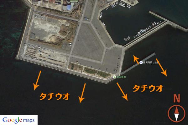 豊浜釣り桟橋でタチウオを釣るシーズンとポイントまとめ【電気ウキ釣り】